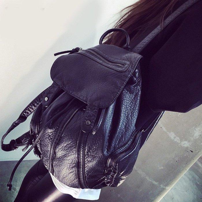 優質版水洗PU皮後背包【 ZOWOO-0029】媽咪包非正韓國連線adidas附錄購物袋非卡娜赫拉畢業花束蕾絲書桌