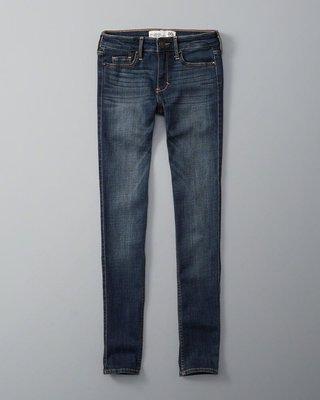 A&F 女 SUPER SKINNY 刷色牛仔褲 尺寸25腰 26腰 全新 現貨