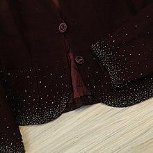 Vintage  UNGARO 暗紫紅色珠繡外套