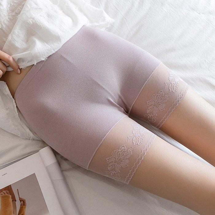 大碼打底褲100公斤薄款外穿顯瘦洋氣防走光安全褲不卷邊蕾絲短褲
