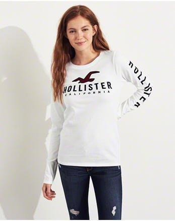 HCO Hollister 海鷗 現貨 長袖 T恤 女生