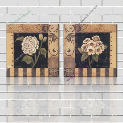 【50*50cm】【厚2.5cm】印象花卉-無框畫裝飾畫版畫客廳簡約家居餐廳臥室牆壁【280101_180】(1套價格)