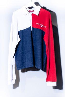 Rowa Py64nhcknn Polo HALF Zip Logo SS16 Long sleeve Tee. 拼接 polo杉