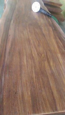【木品覺】 非洲 綠心檀 原木 桌板 餐桌 超硬木 密度1  出清降價