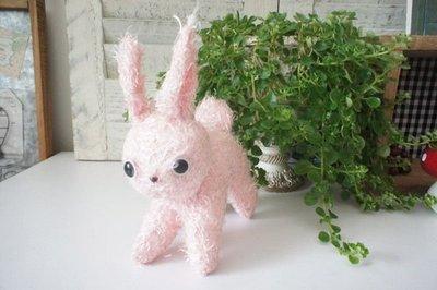 【36號日本雜貨直營】日本雜貨 可愛毛茸茸 粉紅貓 玩偶擺飾(特價)