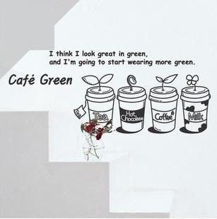 小妮子的家@cafe green壁貼/牆貼/玻璃貼/ 磁磚貼/汽車貼/家具貼/冰箱貼