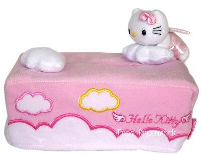 【卡漫迷】Hello Kitty 面紙套 ㊣版 天使造型 絨毛 面紙盒 桌上型 ~ 3 9 9 元