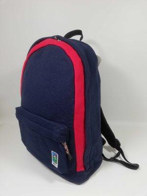 日本 MEI 深藍拼紅色棉布 基本款 背囊 ($250 包順豐)