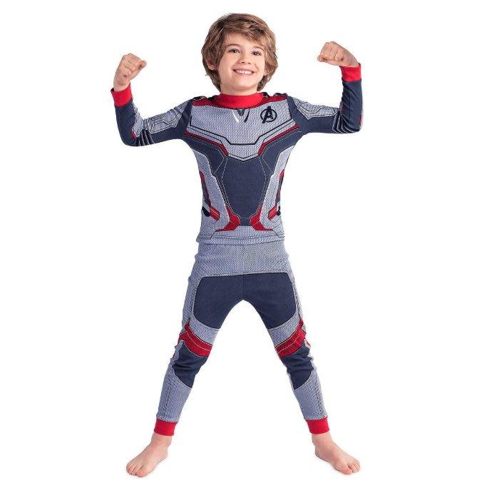 《FOS》美國 迪士尼 漫威 復仇者聯盟 終局之戰 孩童 睡衣 Cosplay 戰鬥服 禮物 孩子最愛 新款 限定