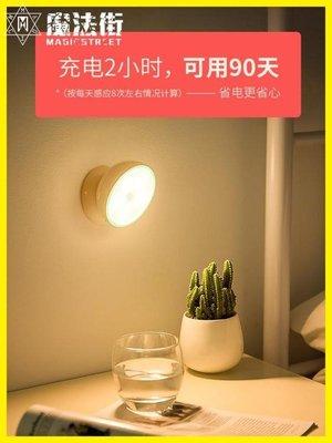 人體感應LED小夜燈泡充電池式聲控床頭無線家用過道樓道臺燈
