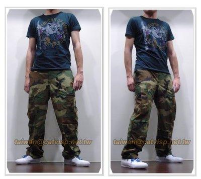 《甲補庫》~~美軍經典叢林大迷彩多口袋長褲(美規版)~森林野戰大斑紋迷彩褲
