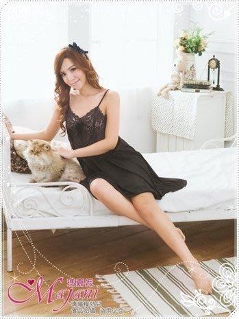 [瑪嘉妮Majani]日系中大尺碼睡衣-巴黎薔薇(黑) 寬鬆 舒適 居家 特價299 現貨 可超取刷卡 jc-243