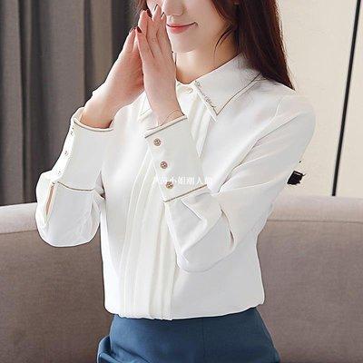 尹茵小姐潮人館襯衣女秋裝2021年新款潮洋氣氣質設計感小眾雪紡襯衫外穿百搭上衣