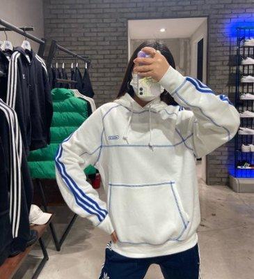 adidas 愛迪達 帽踢 帽tee 車線 白 gn3892 深藍 gn3893