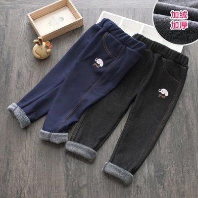 【絕品好店】小象牛仔褲 冬裝新款女童童裝兒童加絨加厚長褲子kz-b806 台北市