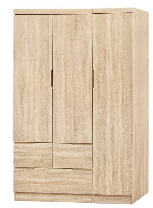 【南洋風休閒傢俱】精選時尚衣櫥 衣櫃 置物櫃 拉門櫃 造型櫃設計櫃- 原切橡木4*6衣櫥 CY188-46