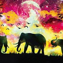 拼圖專賣店 拼圖  1000-008(1000片夜光拼圖 大象插畫)