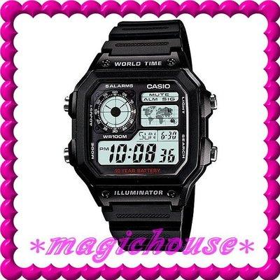 ?夢幻精品屋?CASIO原廠公司貨~世界時間電子錶AE-1200WH-1A