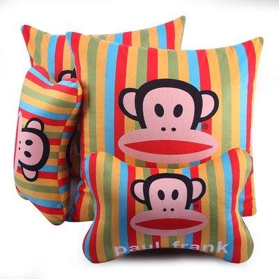 大嘴猴汽車創意頭枕卡通護頸枕可愛車用頭枕抱靠頸枕汽車用品
