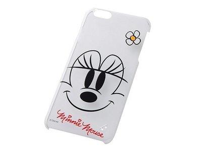 尼德斯Nydus~* 日本 迪士尼 米老鼠 米妮 Minnie 硬殼 手機殼 透明 大臉款 5.5吋 iPhone6+