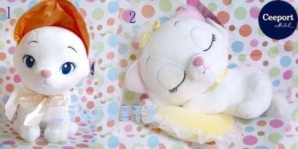 一番街*日本帶回*超可愛瑪麗貓戴高帽-睡覺版娃娃(單隻價)~迪士尼~