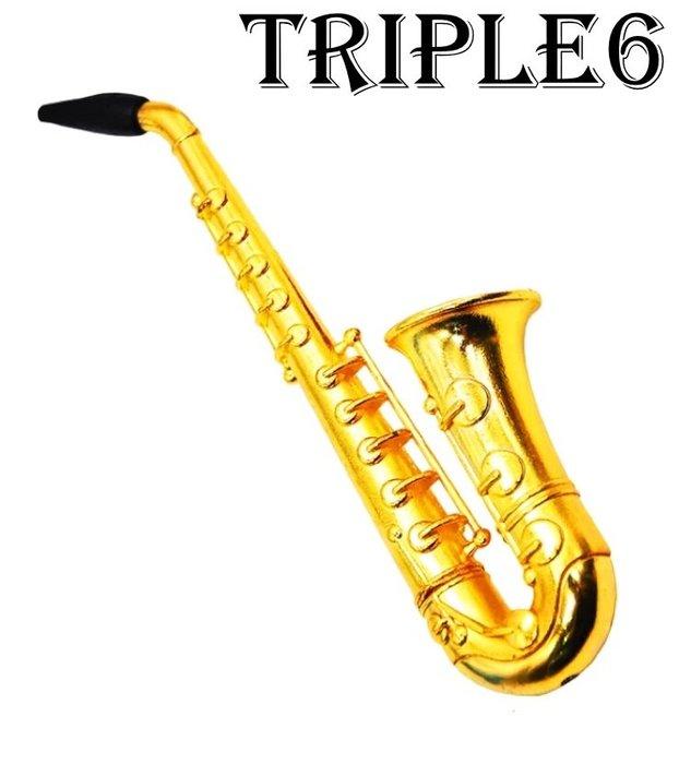 【Triple6】🚚免運 歐美熱銷 鋅合金 98mm 薩克斯風 造型 煙斗 套裝