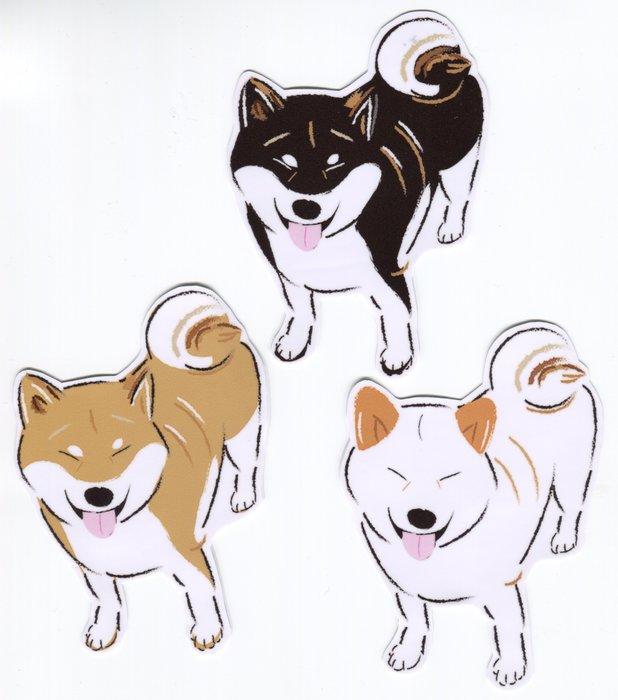 小飯糰 柴柴大型防水貼紙 笑笑柴 柴犬 行李箱貼紙