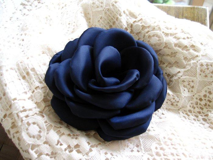 實品無敵美藍色大花別針胸花髮飾兩用