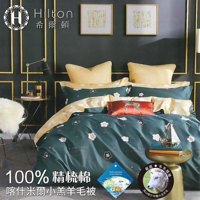 【Hilton希爾頓】100%精梳棉喀什米爾小羔羊毛被2.2kg(萬花筒)(B0891-22A)