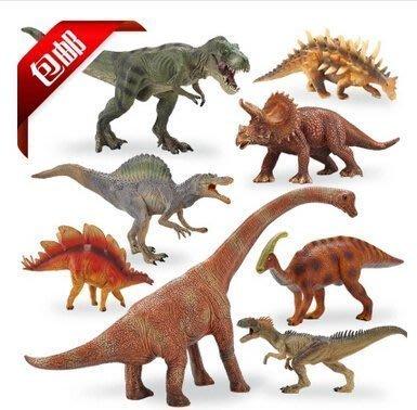 【優上精品】侏邏紀公員大號實心恐龍玩具塑膠恐龍模型男孩禮物霸王龍暴龍(Z-P3166)