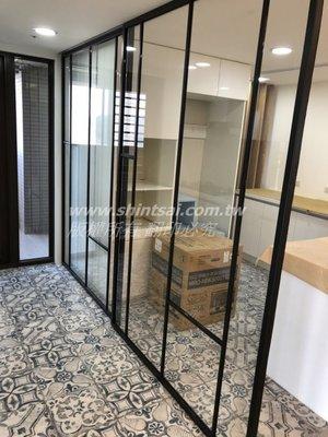 shintsai鋁框玻璃工程 (新北市) 細鋁框拉門 懸吊拉門 玻璃滑門 鋁框隔間玻璃工程