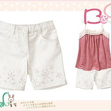 【B& G童裝】正品美國進口Crazy8刺繡花圖樣白色格紋布短褲18-24mos