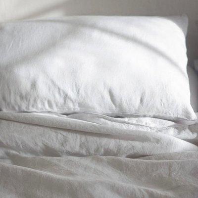 進口原料酵素水洗亞麻枕套天然舒適48×74cm單人枕芯套