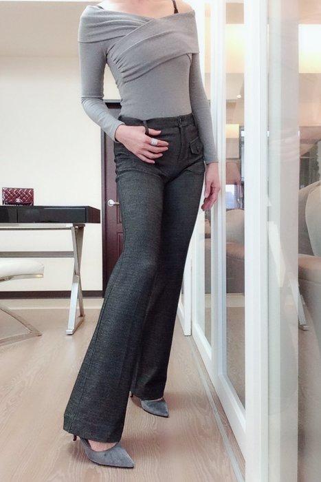 *Beauty*PATRIZIA PEPE灰色靴型長褲40號4900元PH