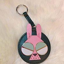 【一元起標無底價】專櫃品牌kate spade 好像監獄兔兔 包包配件吊飾 真皮皮革鑰匙圈 附防塵袋