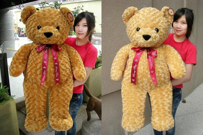 娃娃夢幻樂園~超大泰迪熊娃娃~高100公分~玫瑰泰迪熊~超柔軟好抱~生日禮物~全省宅配