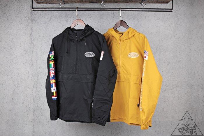 【HYDRA】HUF World Tour Anorak Jacket 風衣 罩衫 半拉鍊【JK00163】