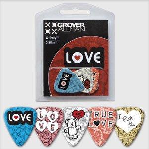 ☆ 唐尼樂器︵☆澳洲製 Grover Allman 主題系列『Love』烏克麗麗/木吉他/電吉他 Pick 彈片