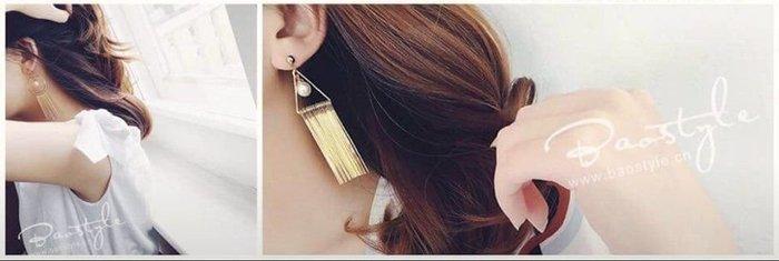 現貨特價中 925銀飾 珍珠系列 女神級珍珠造型垂吊式耳環耳針(三角/圓形)