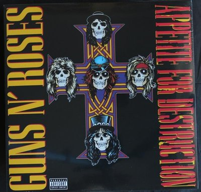全新歐版黑膠-槍與玫瑰 / 毀滅慾 Guns N'Roses / Appetite For Destruction