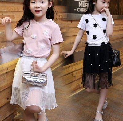 韓版釘珠纱裙套裝(尺碼110~160)