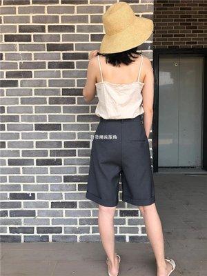 發發潮流服飾RIGEL 男友風西裝中褲女2019夏季新款正韓五分褲直筒型西裝褲