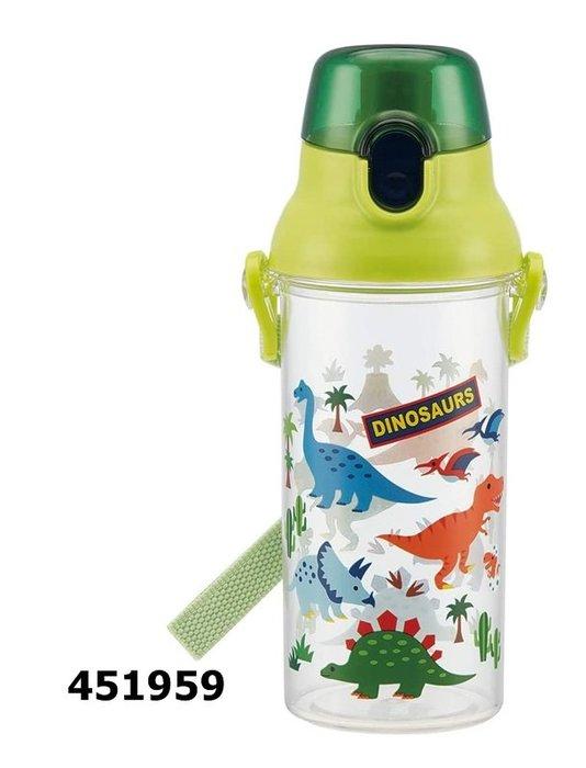 日本製 新款 透明 恐龍 451959 直飲式水壺 480 ml 奶爸商城 同系列水壺4款合購免運
