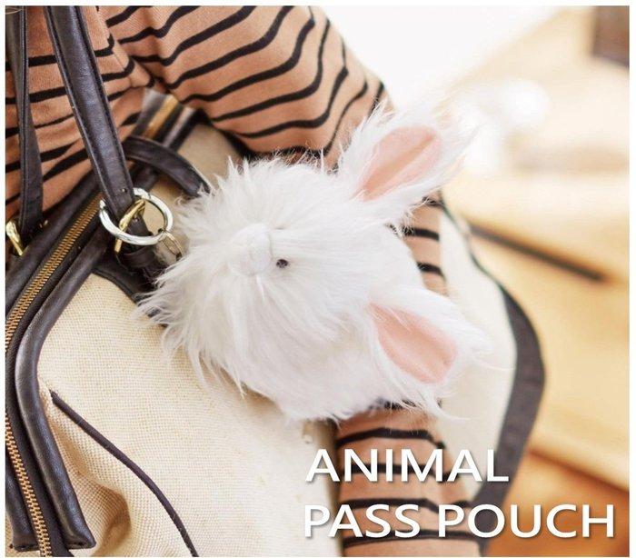 【beibai不錯買】日系雜貨 zakka 日本進口 動物收納小包 安哥拉兔(ANIMAL PASS POUCH)