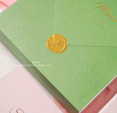 AM好時光【J448】復古金 玫瑰金火漆蠟封印章浮雕貼紙 8枚❤婚禮小物 禮品牛皮包裝盒貼 伴手禮邀請函信封卡片喜帖裝飾