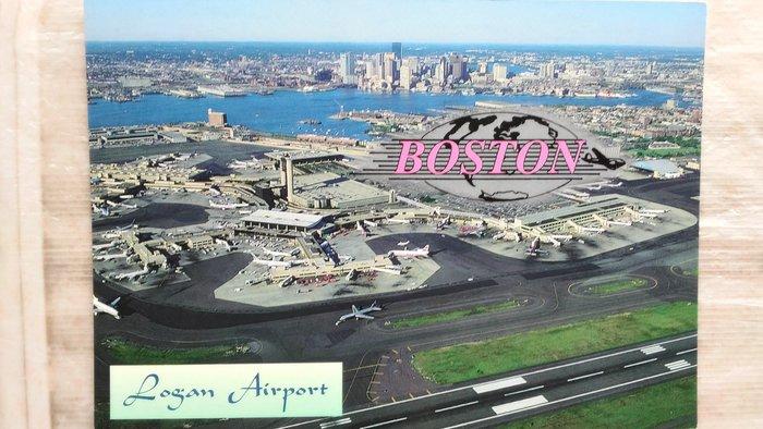 明信片     LOGAN  INTERNATIONAL  AIRPORT ,  Boston MA. U.S.A.