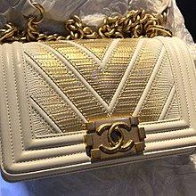 Chanel Boy bag 20cm White Lizard 全新購自専門店