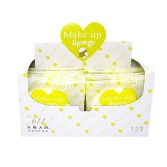 采粧大師 COSMOS NR No.611 專業化妝海綿粉撲盒裝12入 永和三美人新包裝