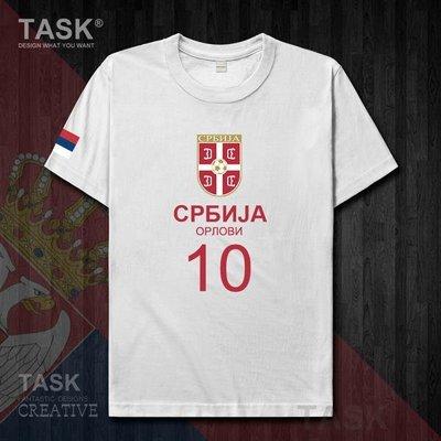 TASK 世界杯塞爾維亞Serbia足球衣純棉T恤國家短袖運動隊服