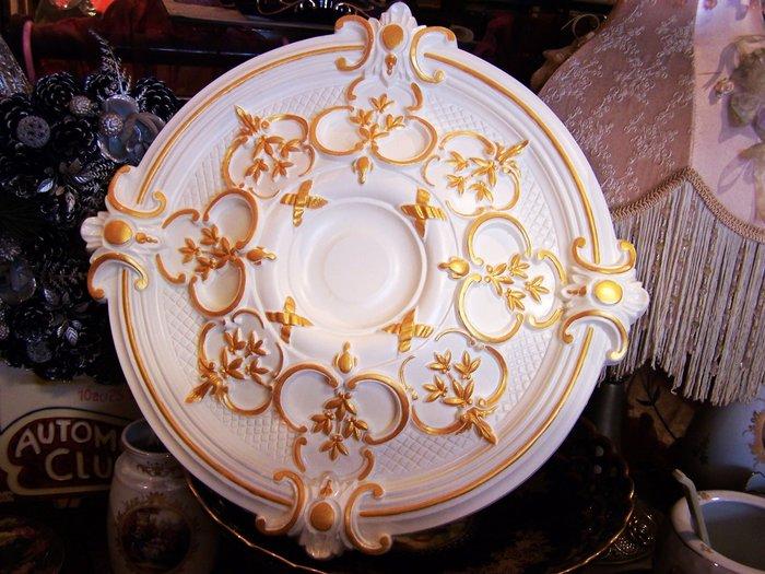 歐洲宮廷藝術精品- - 維多利亞 巴洛克    立體浮雕PU燈座_手工描金PO-32344-0-HD@$2488